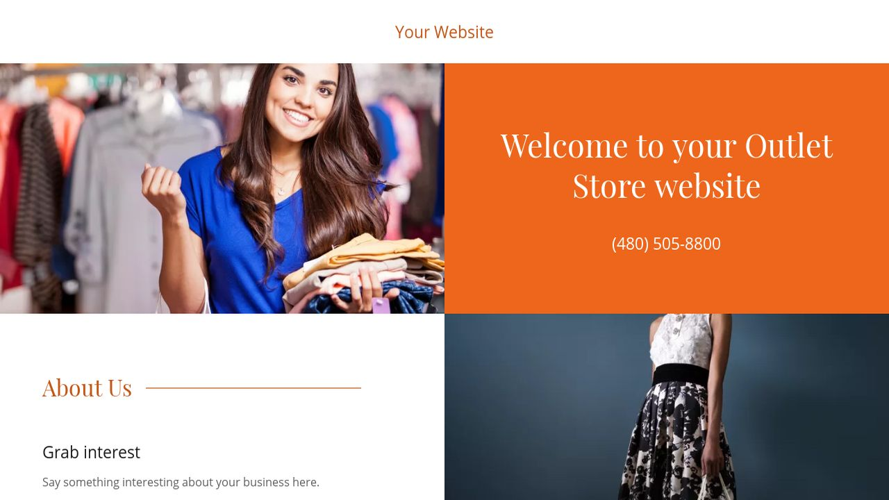 Outlet Store Website: Example 1