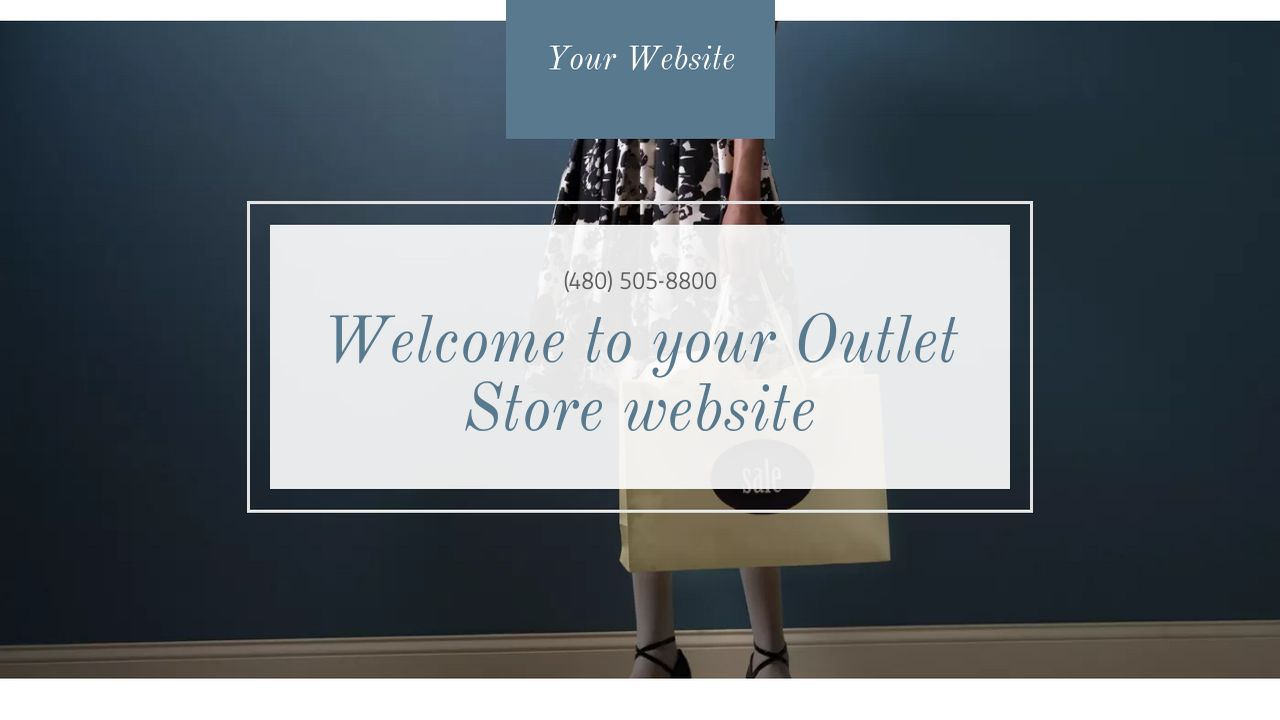 Outlet Store Website: Example 10