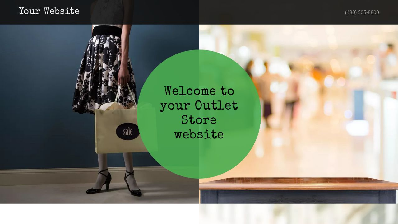 Outlet Store Website: Example 11