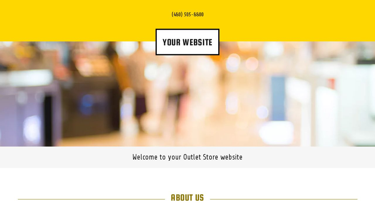 Outlet Store Website: Example 13