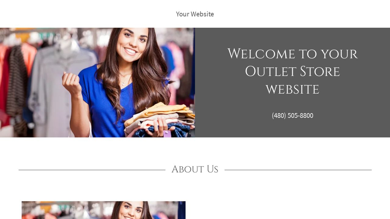 Outlet Store Website: Example 15