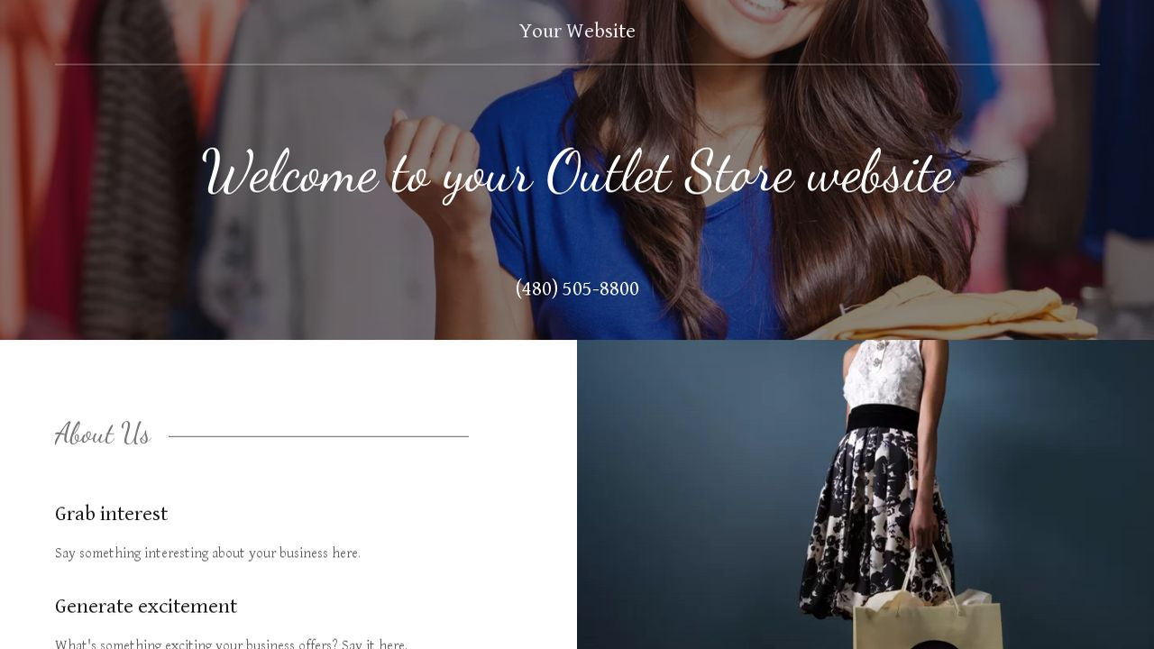 Outlet Store Website: Example 16