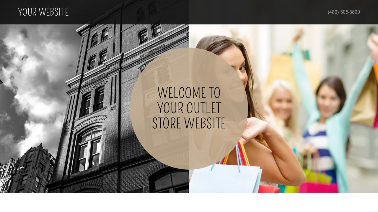 Outlet Store Website: Example 18
