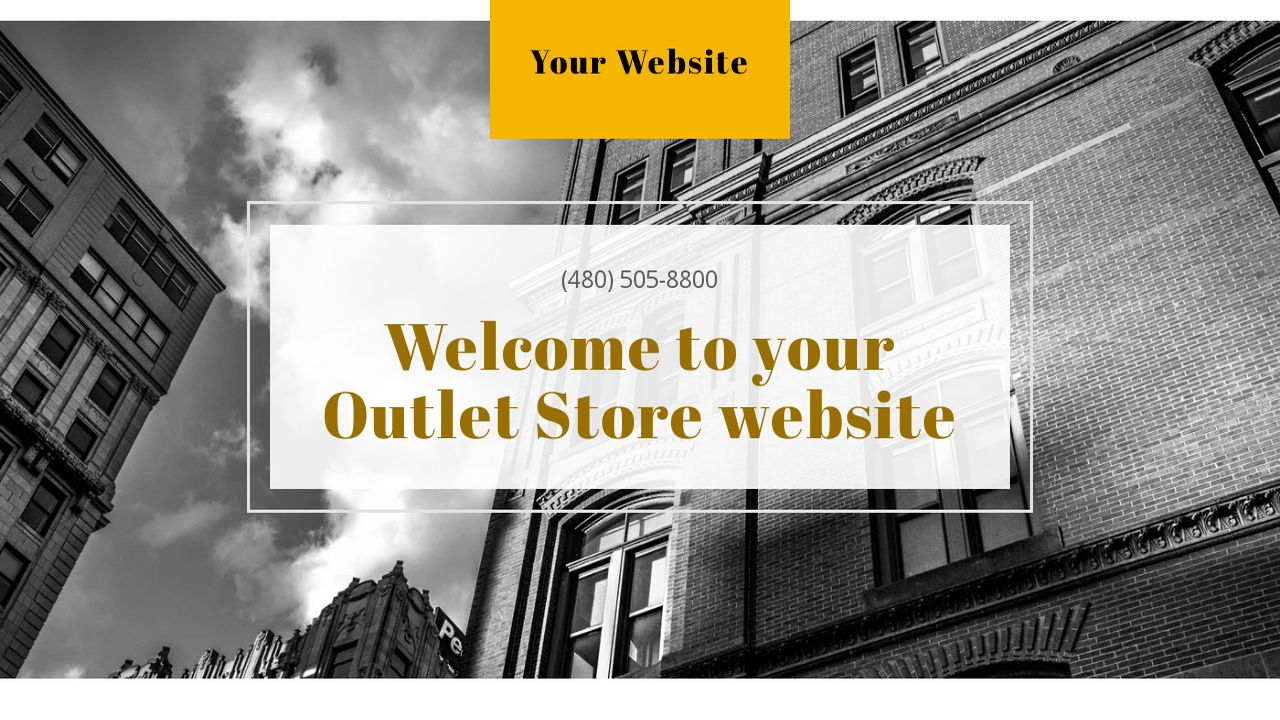 Outlet Store Website: Example 3
