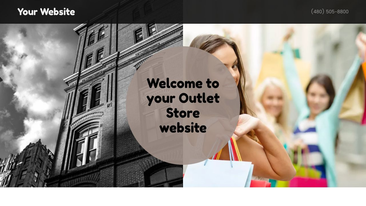 Outlet Store Website: Example 4