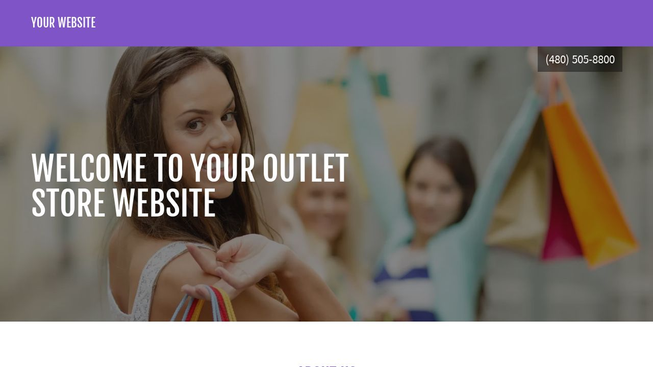 Outlet Store Website: Example 7
