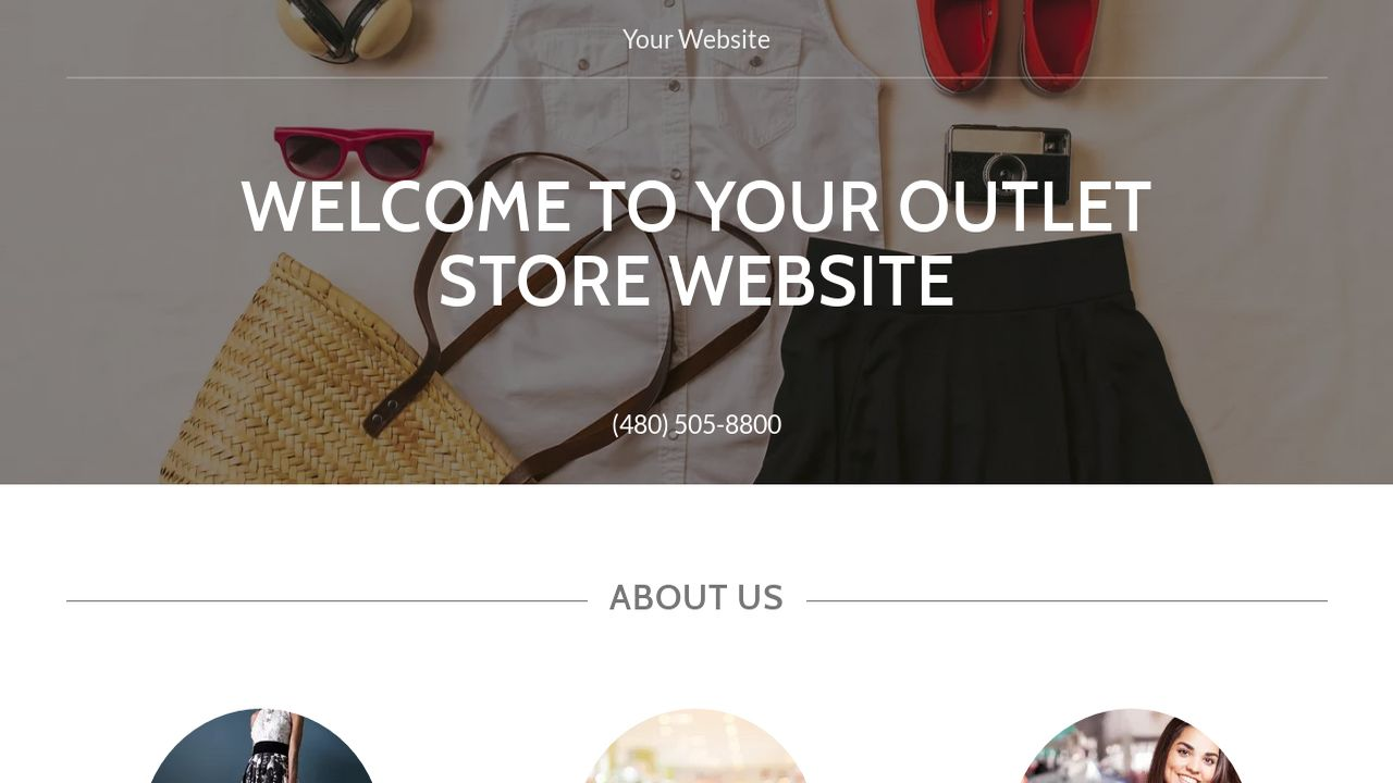 Outlet Store Website: Example 9