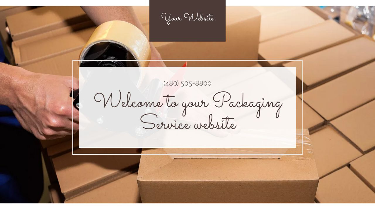 Packaging Service Website: Example 1