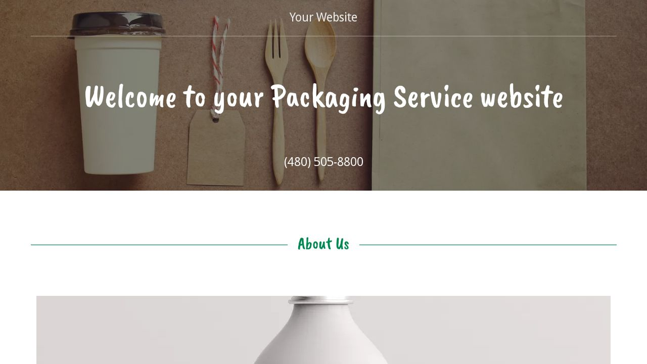 Packaging Service Website: Example 11
