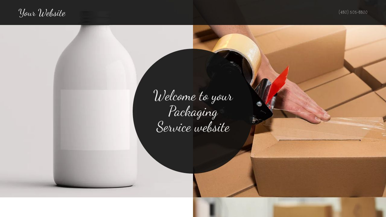 Packaging Service Website: Example 13
