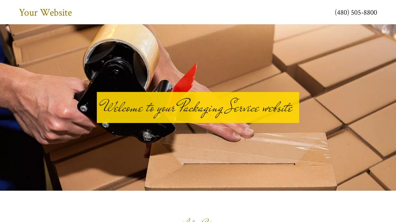 Packaging Service Website: Example 16