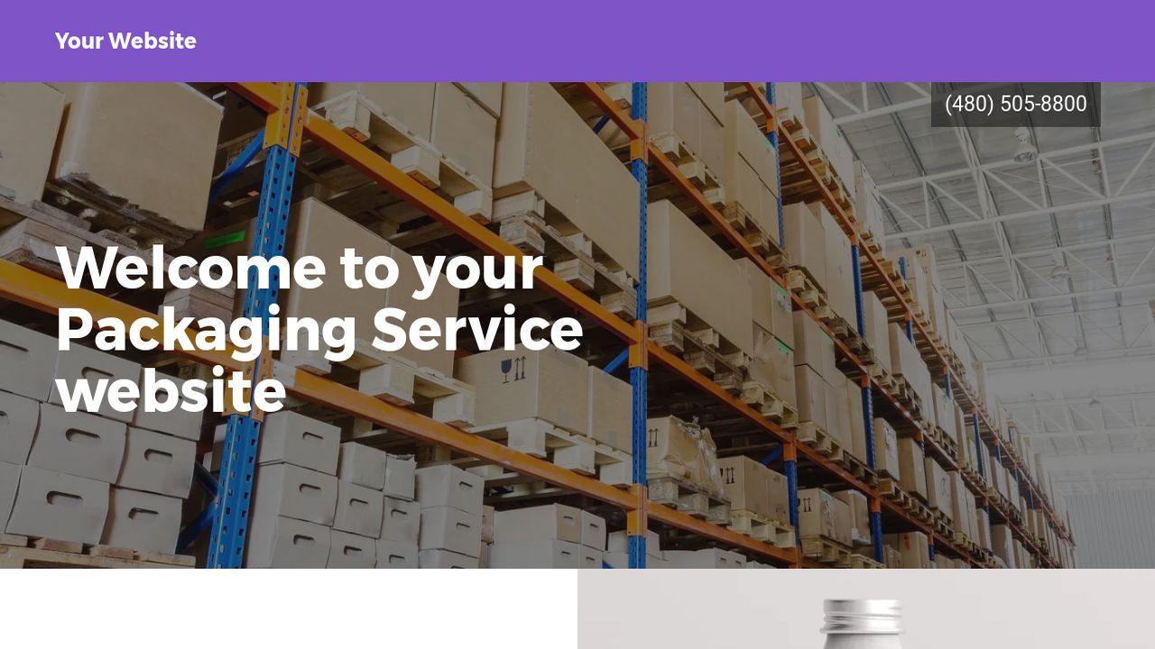 Packaging Service Website: Example 3
