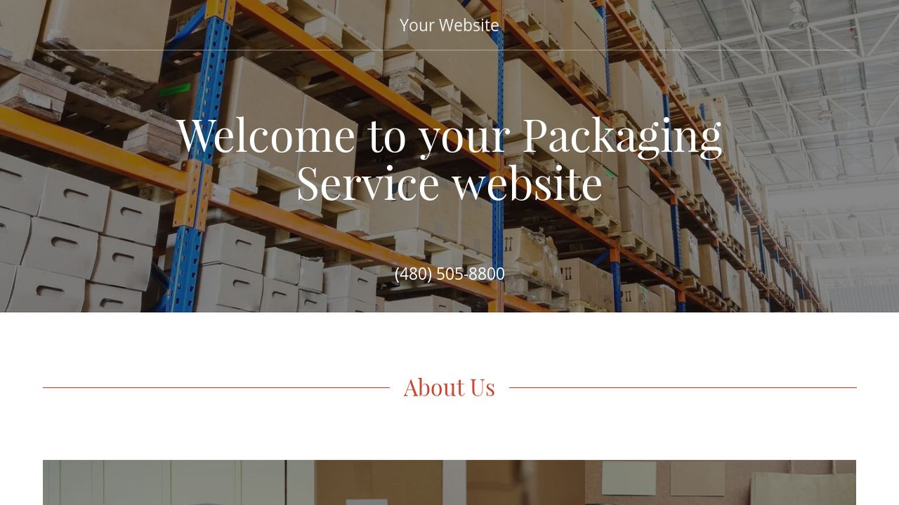 Packaging Service Website: Example 4