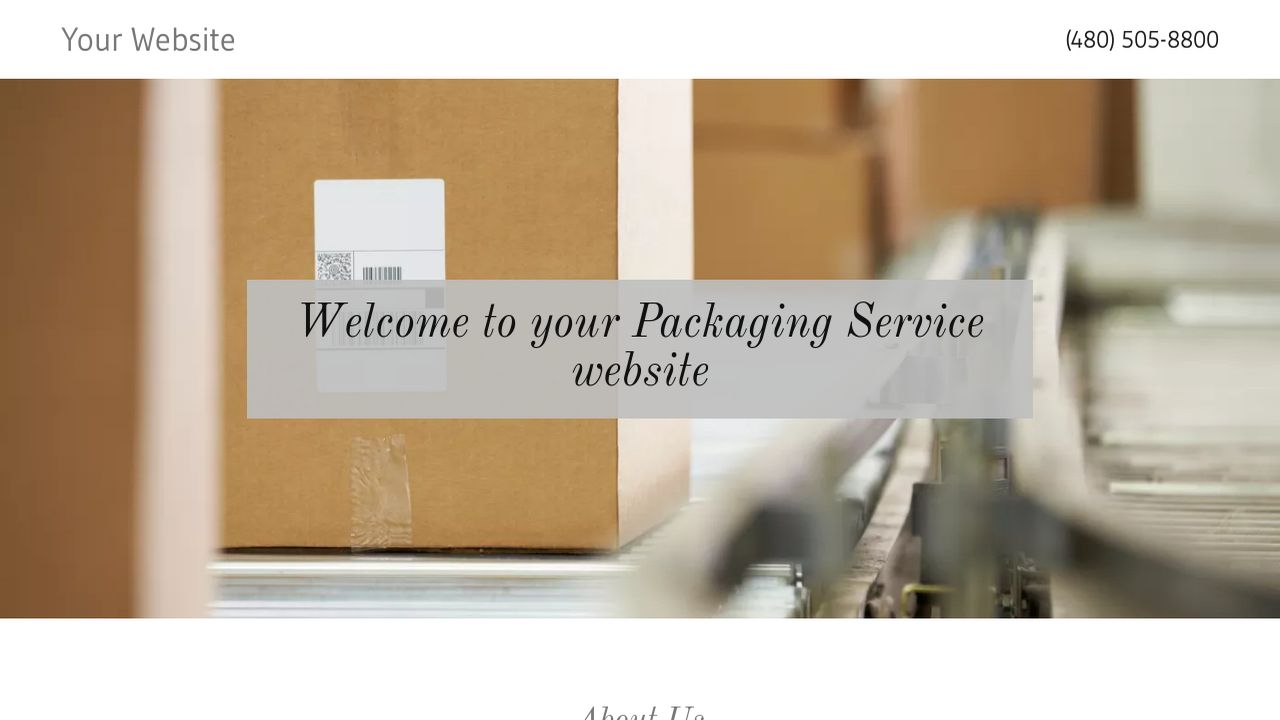 Packaging Service Website: Example 9