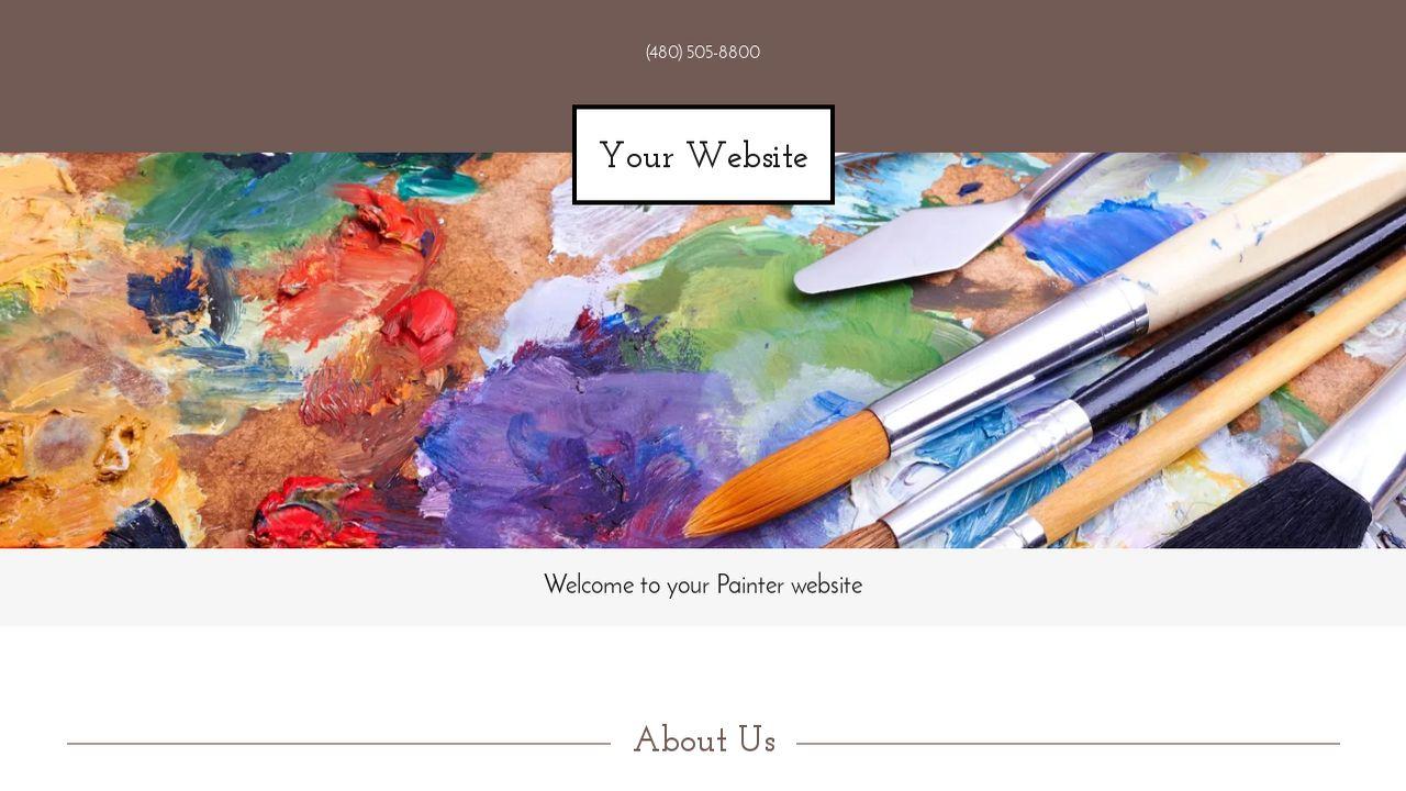 Painter Website Templates | GoDaddy