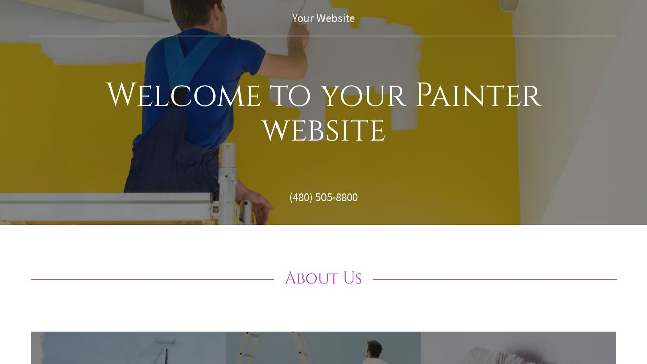 example 8 painter website template godaddy. Black Bedroom Furniture Sets. Home Design Ideas