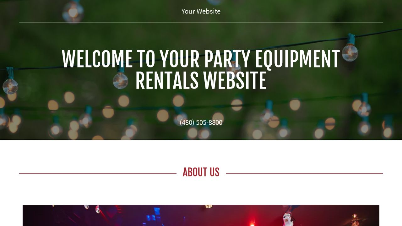 party equipment rentals website templates godaddy. Black Bedroom Furniture Sets. Home Design Ideas