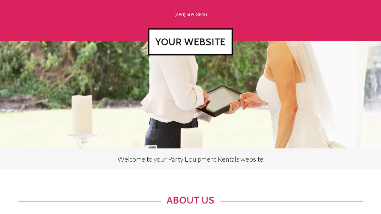 example 18 party equipment rentals website template godaddy. Black Bedroom Furniture Sets. Home Design Ideas