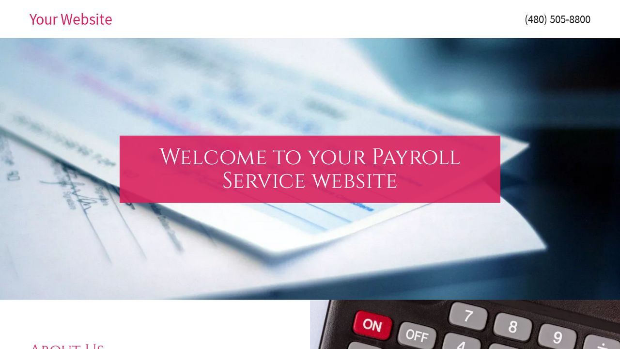 Payroll Service Website: Example 10