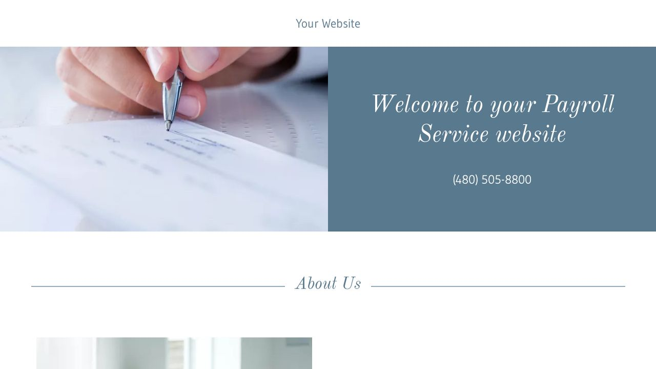 Payroll Service Website: Example 13