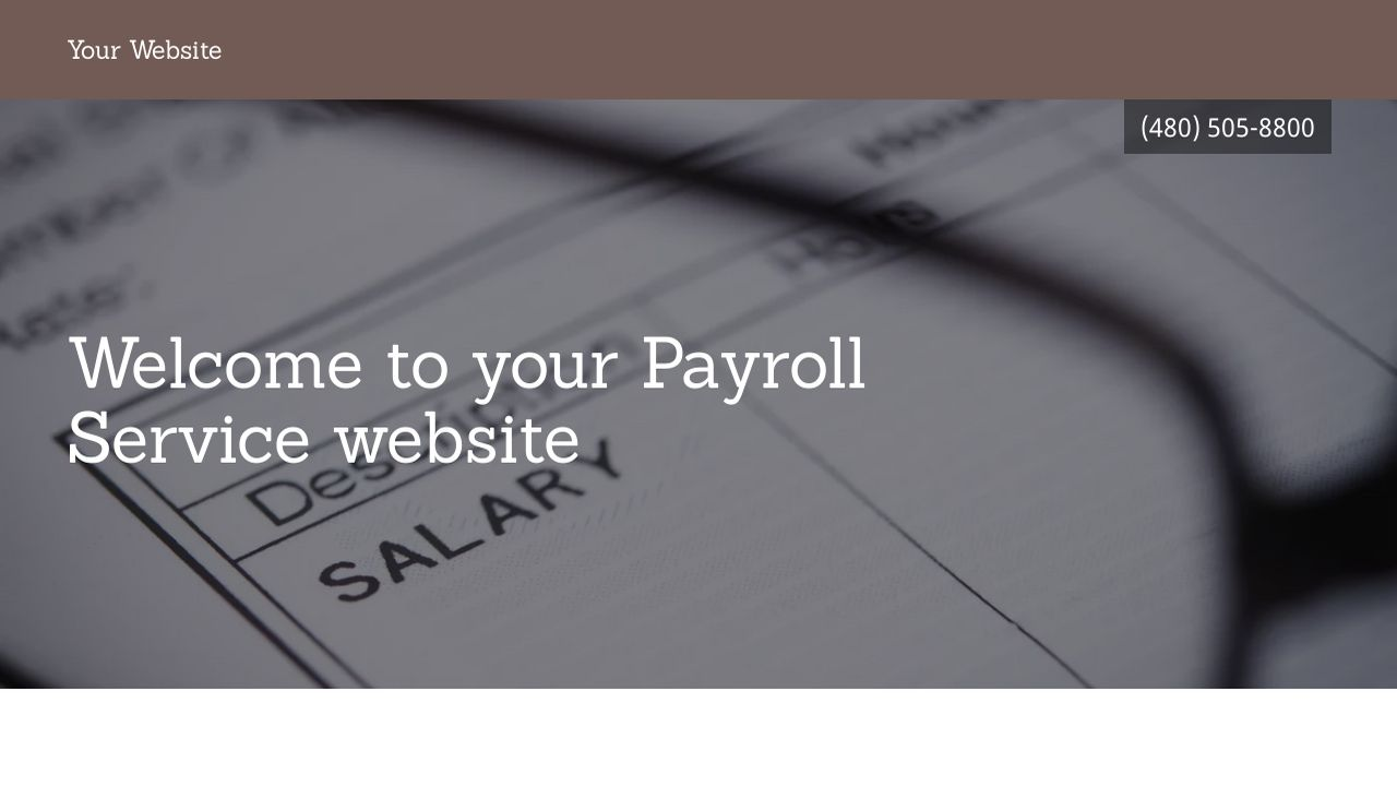Payroll Service Website: Example 2
