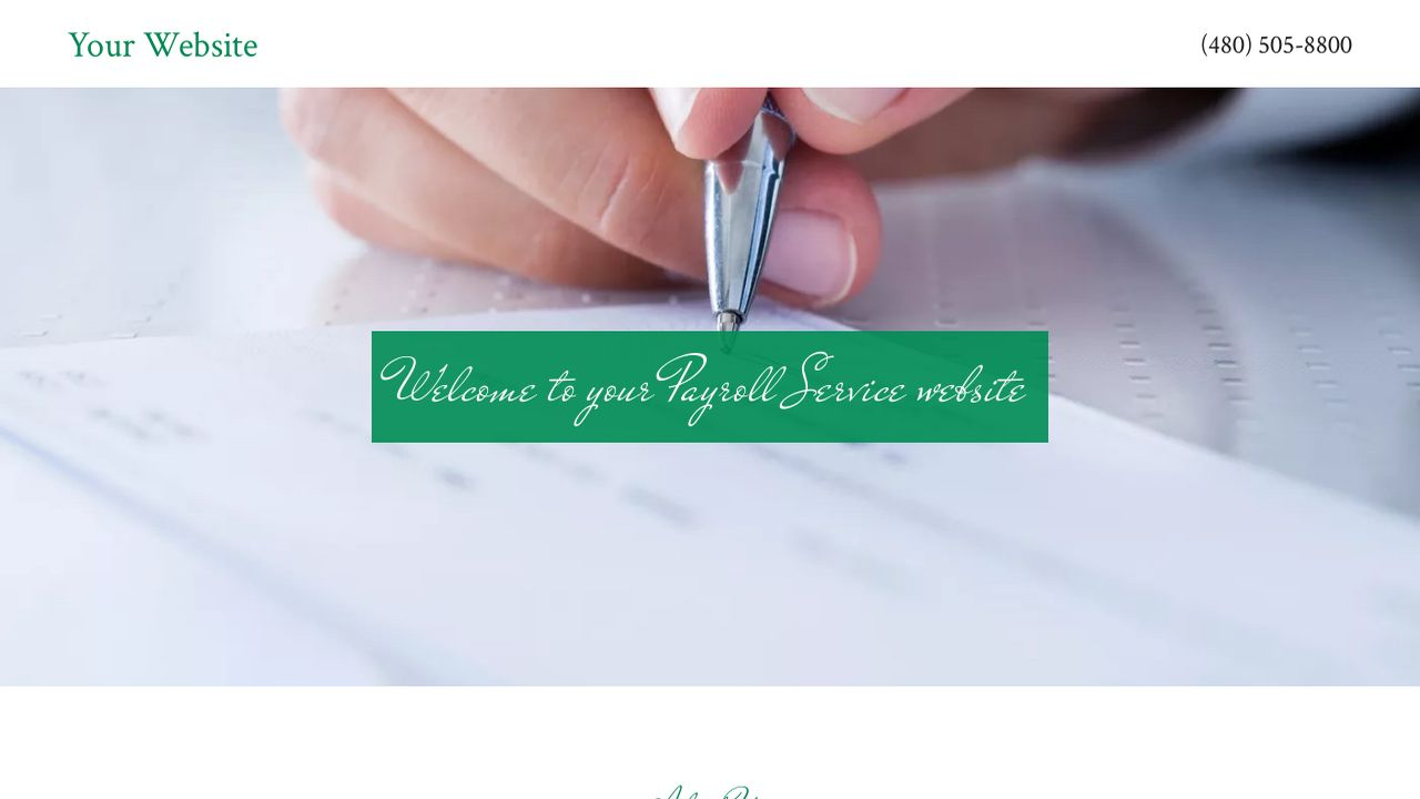 Payroll Service Website: Example 3