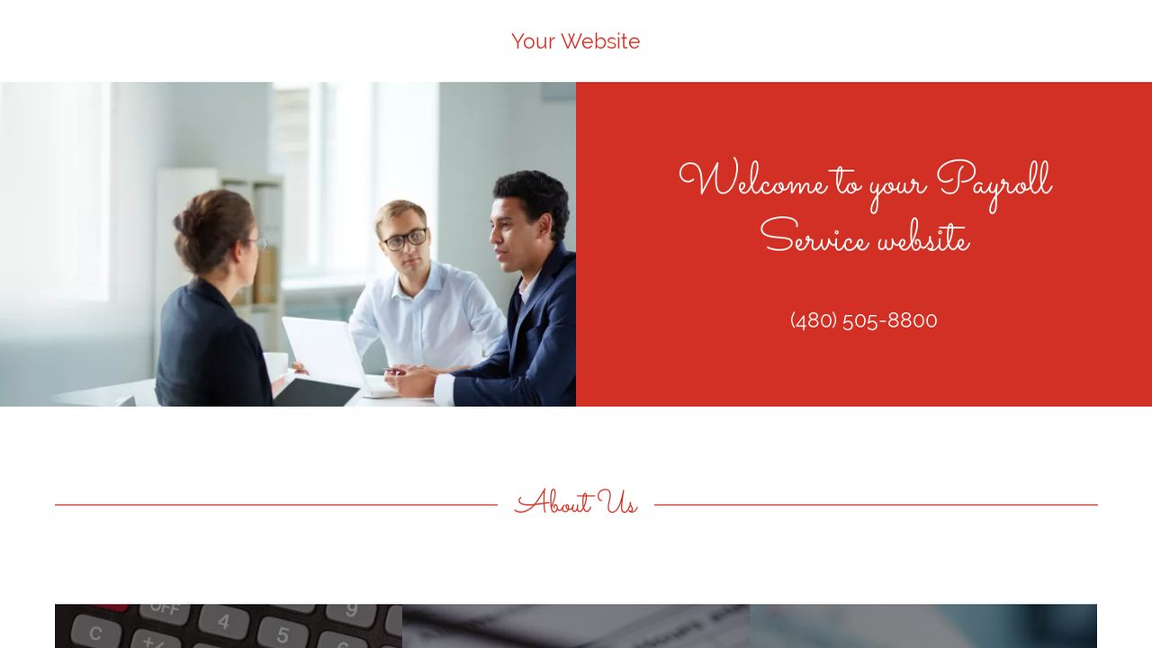 Payroll Service Website: Example 6