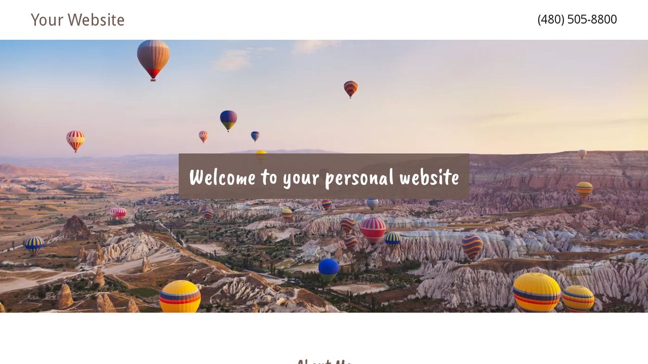 personal website example 12