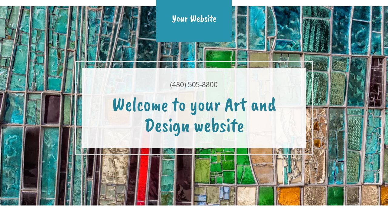 Art and Design Website: Example 1
