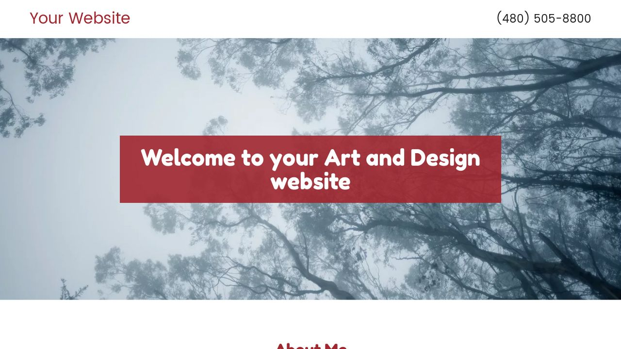 Art and Design Website: Example 10