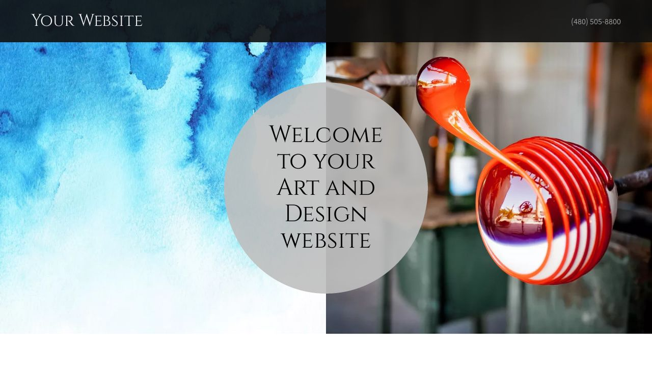 Art and Design Website: Example 12