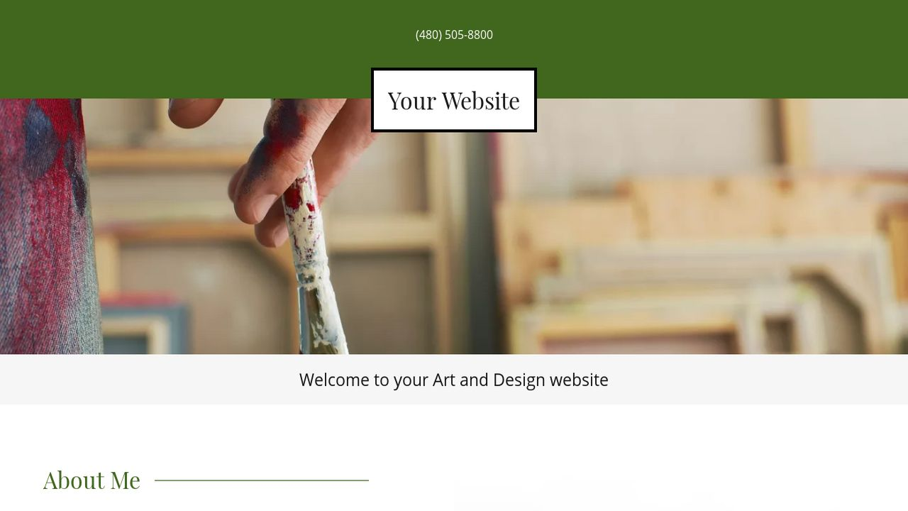 Art and Design Website: Example 13