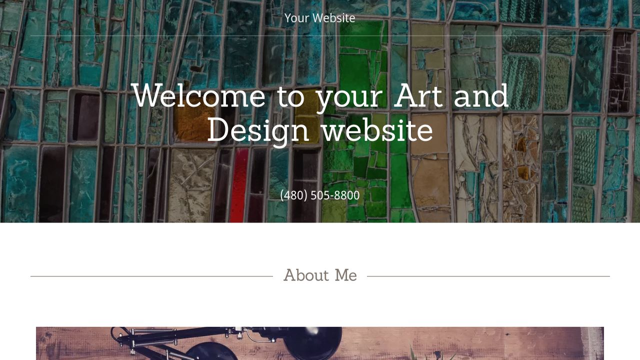 Art and Design Website: Example 14