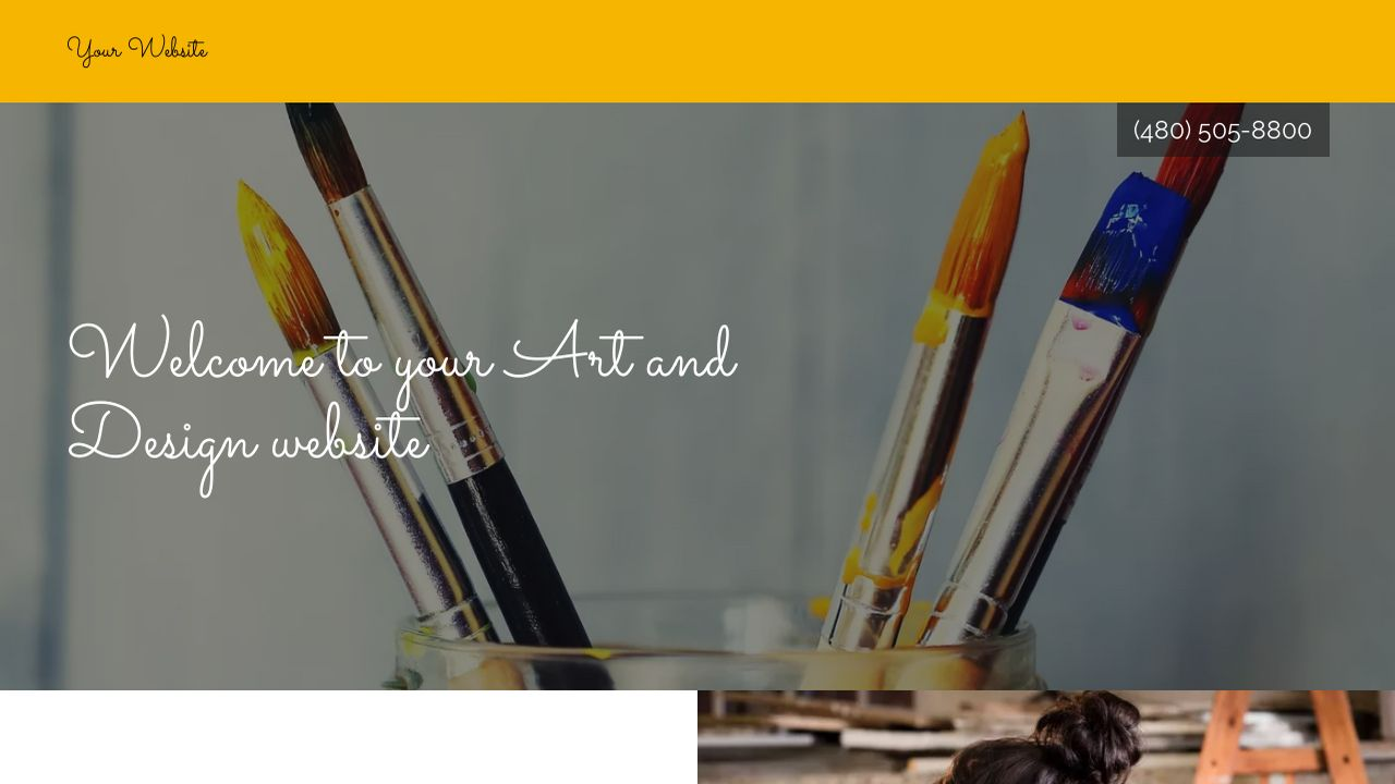 Art and Design Website: Example 18