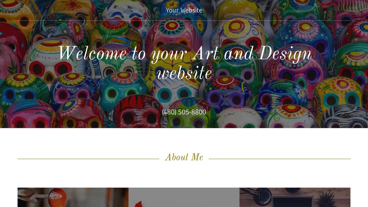 Art and Design Website: Example 7
