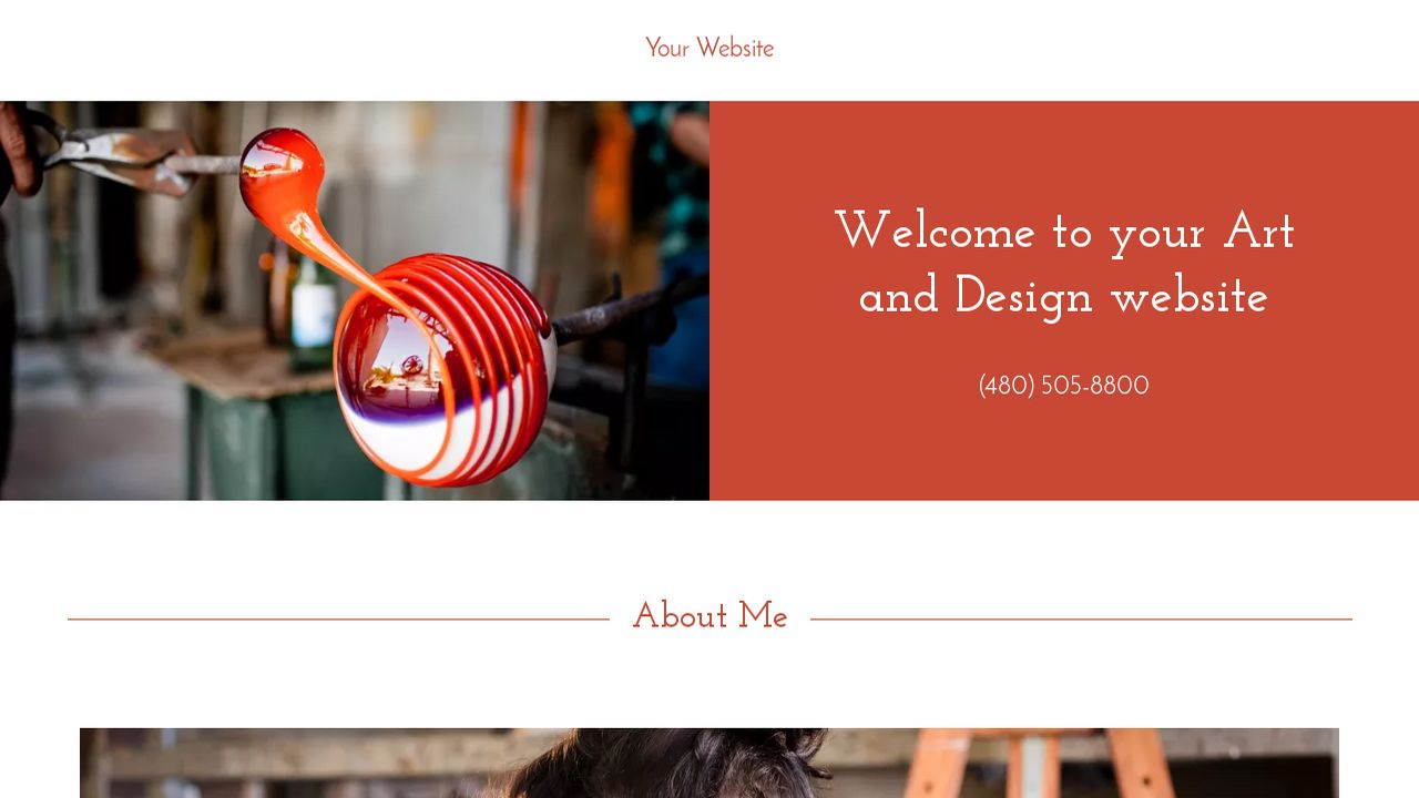 Art and Design Website: Example 9