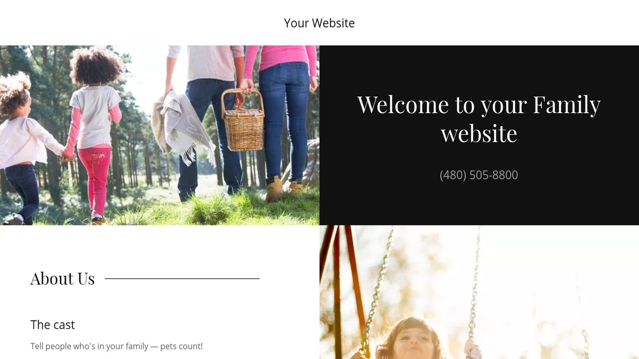 Family website templates godaddy family example 12 saigontimesfo
