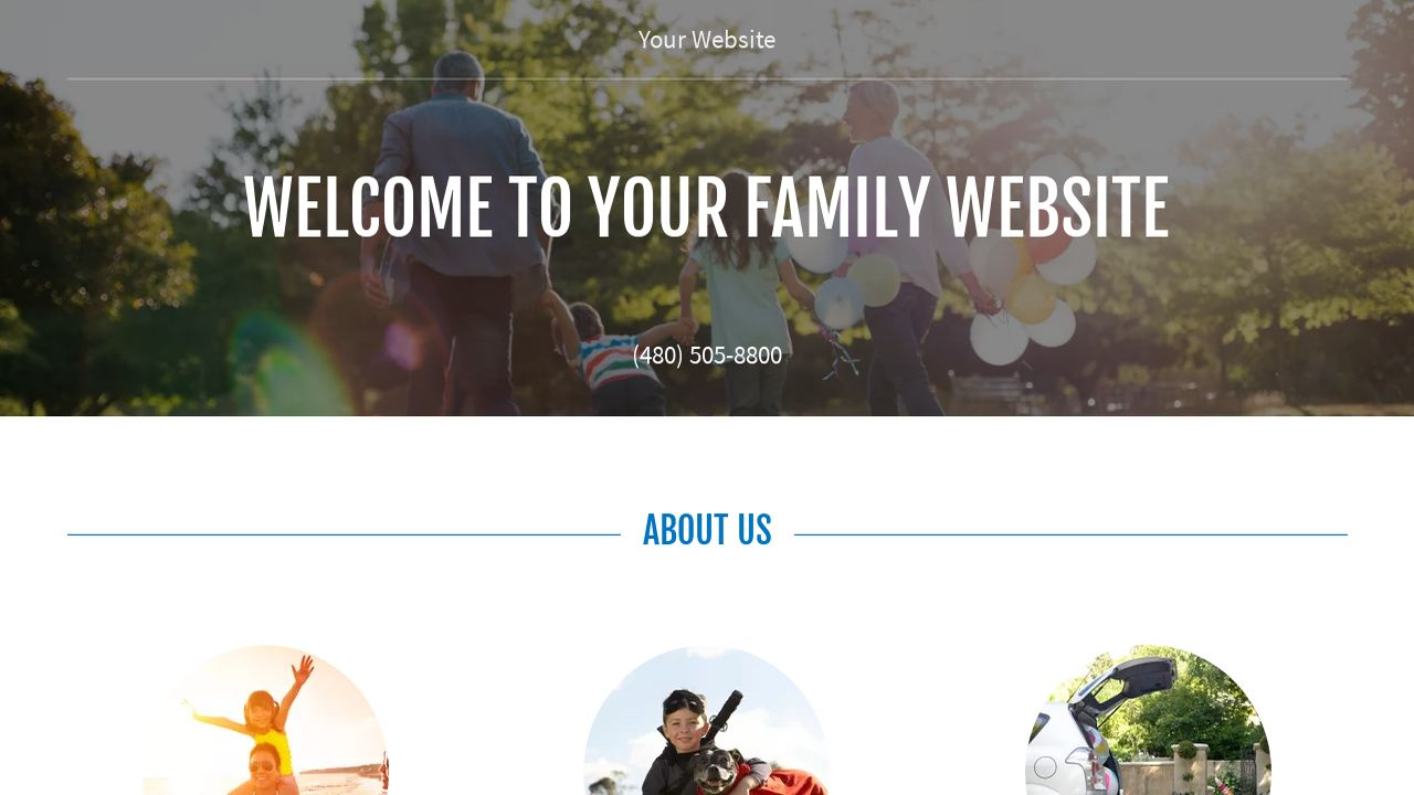 Family Website Templates | GoDaddy