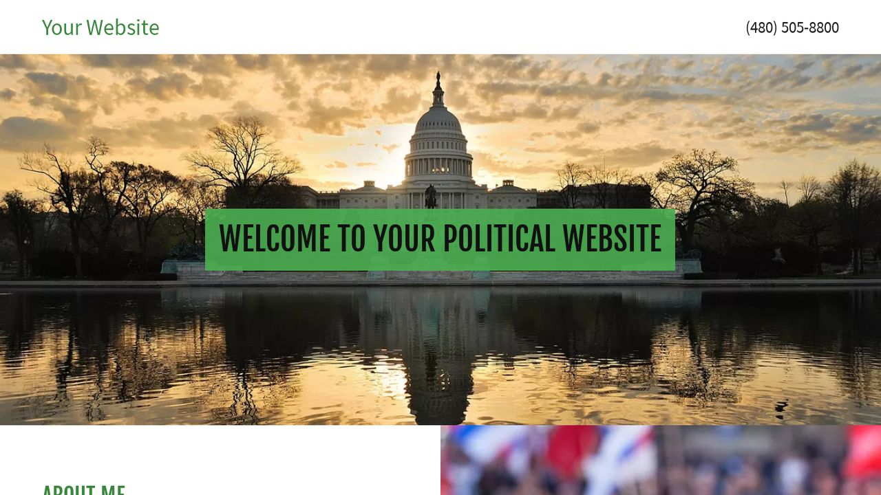 Political Website: Example 12