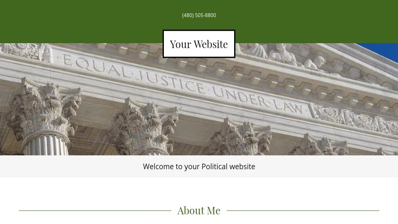 Political Website: Example 18