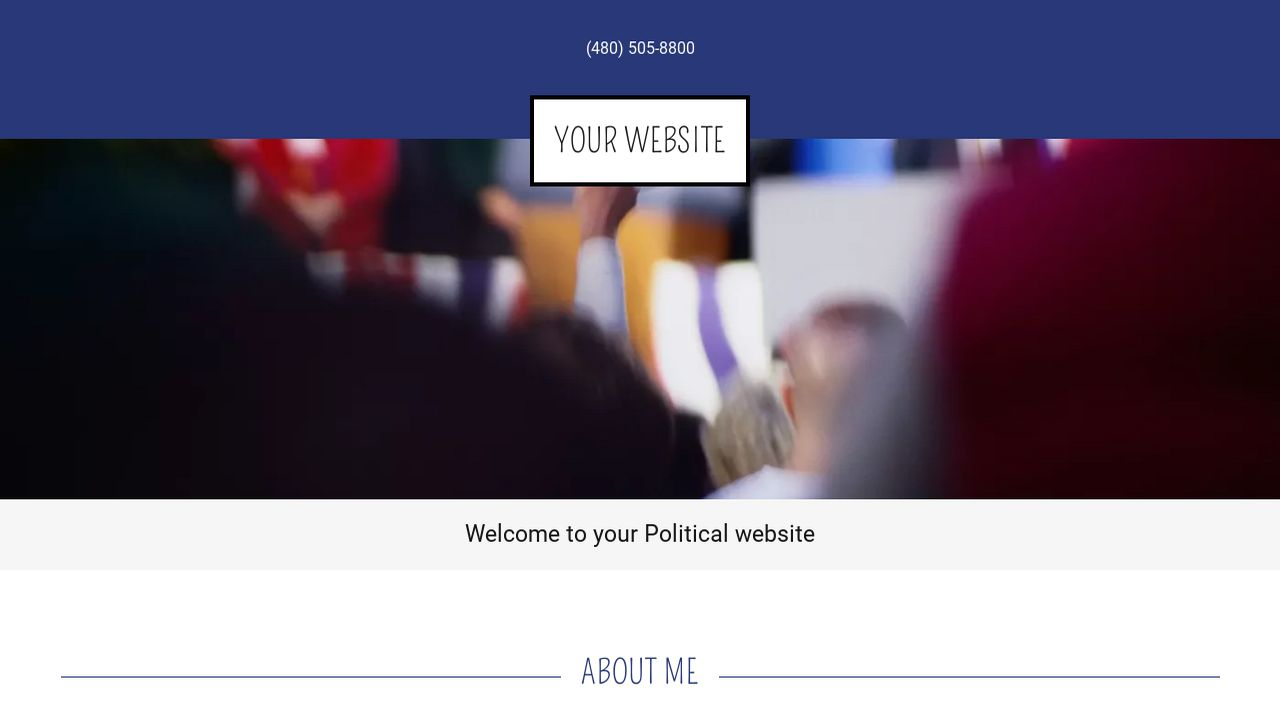 Political Website: Example 4