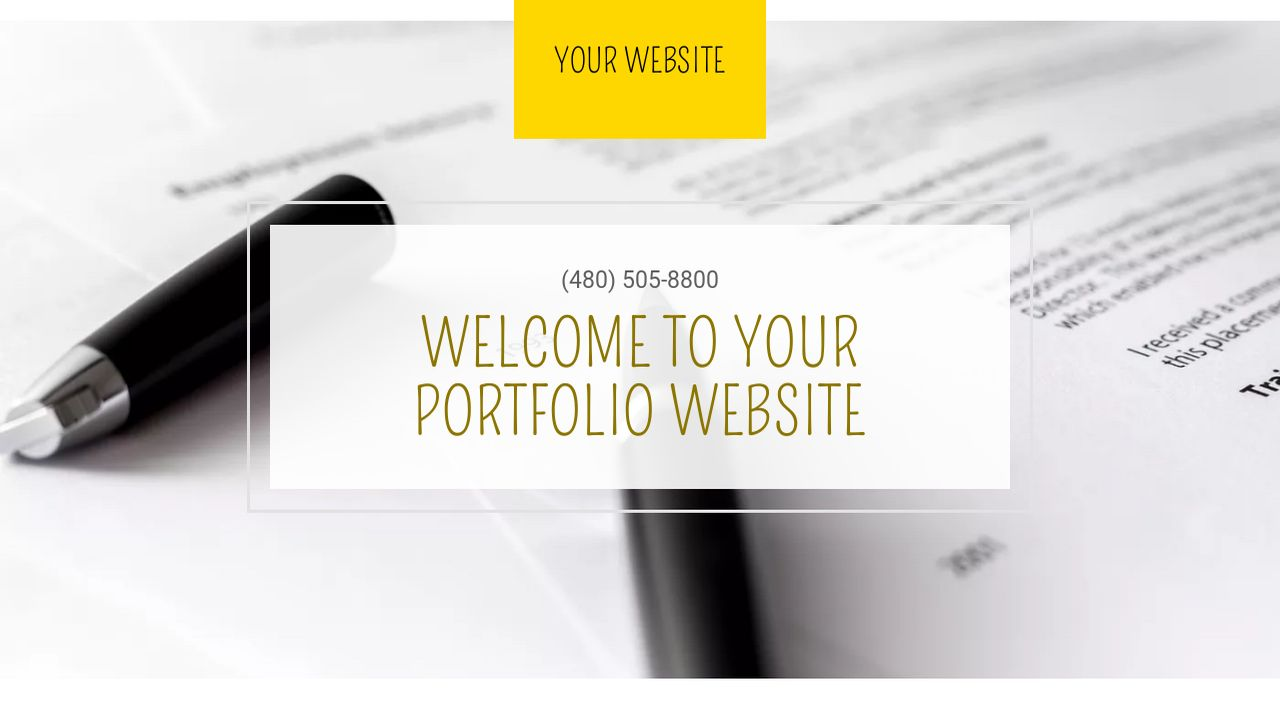 Portfolio Website: Example 1
