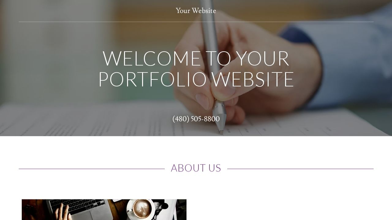 Portfolio Website: Example 11