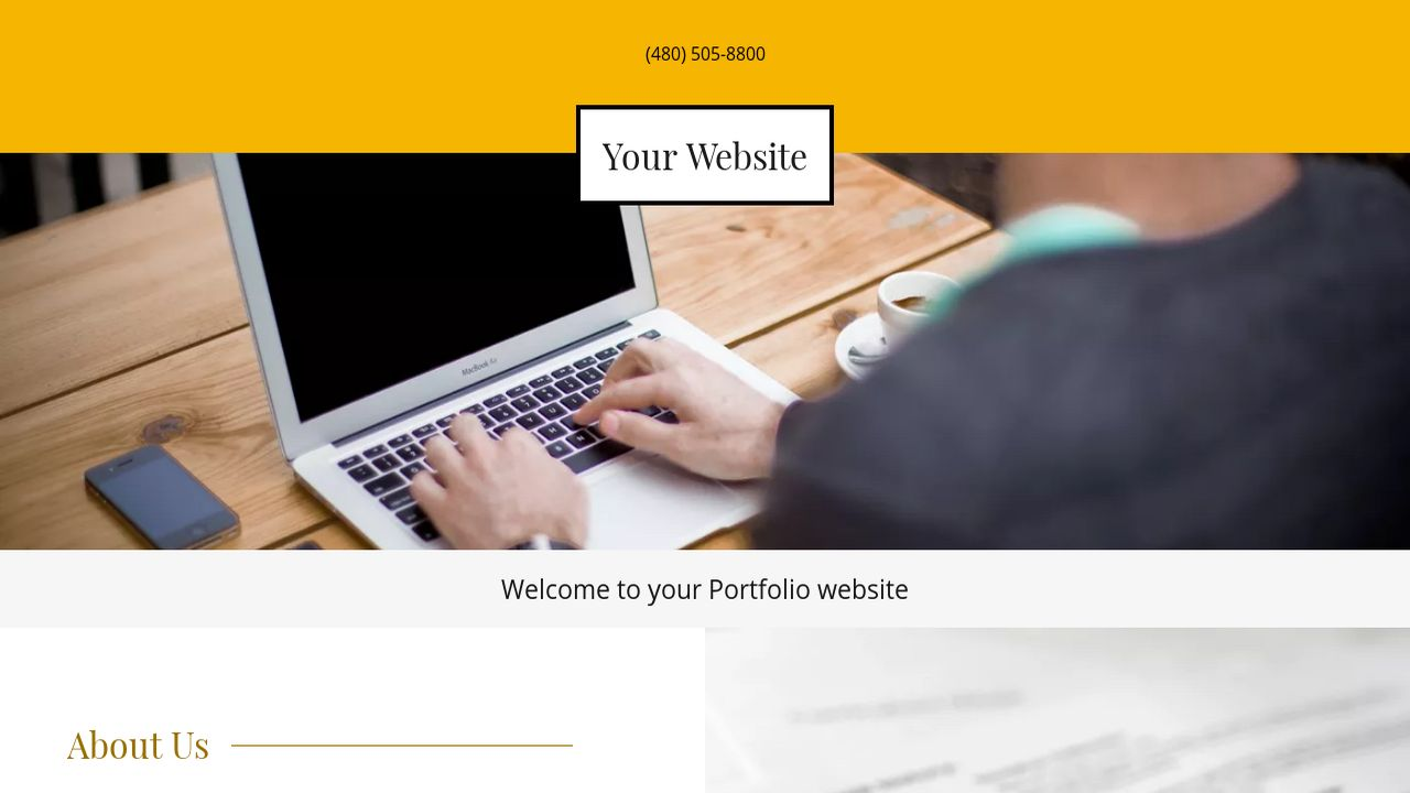 Portfolio Website: Example 12