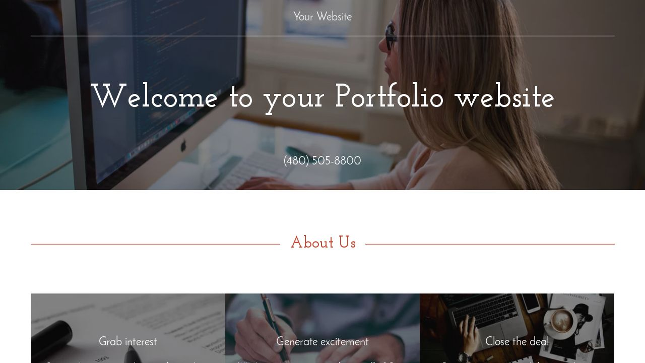 Portfolio Website: Example 18