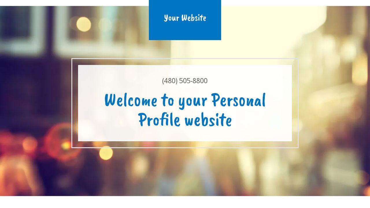 personal profile website templates