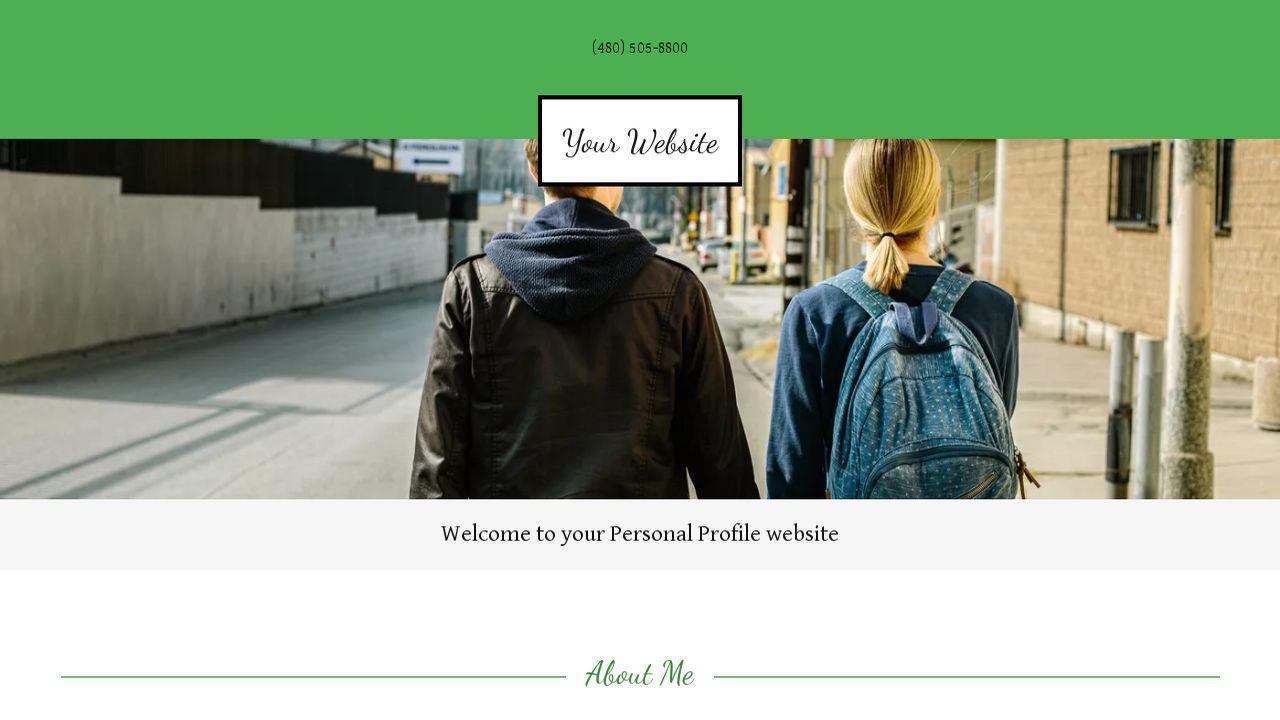personal profile website templates godaddy