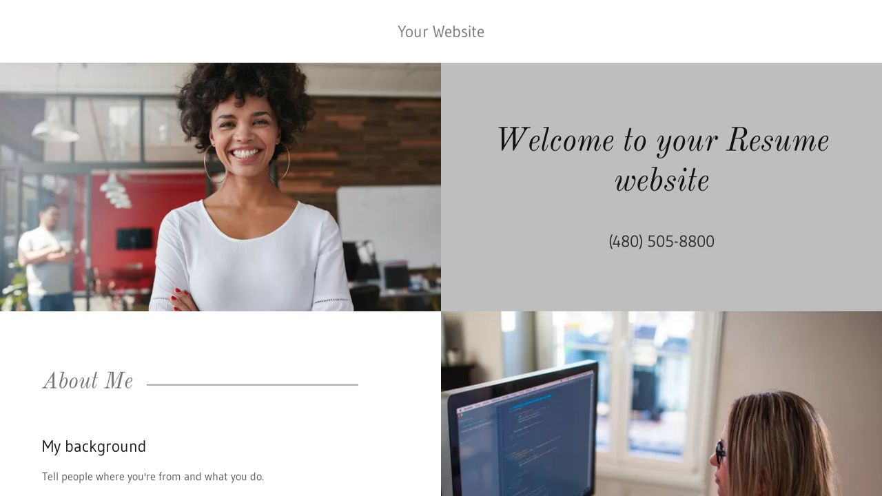 Resume Website Templates Godaddy