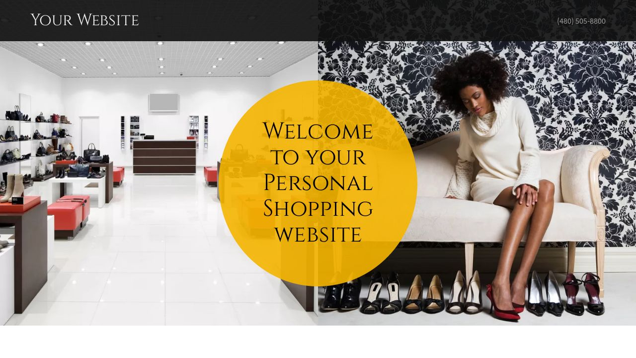 Personal Shopping Website: Example 1