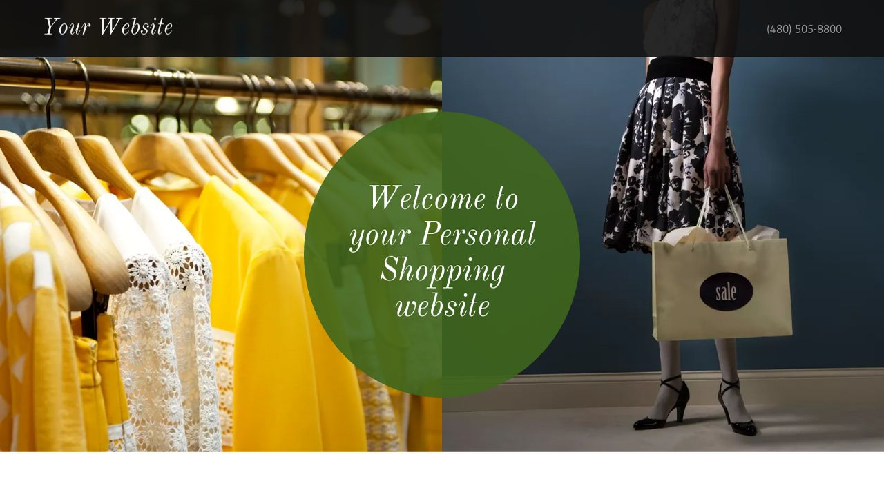Personal Shopping Website: Example 15